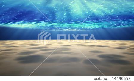 Underwater background with sandy sea bottom. 54490658