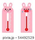 ウサギの温度計 54492529