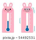ウサギの温度計 54492531