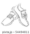 Hand drawn of sneakers isolated on white. 54494811