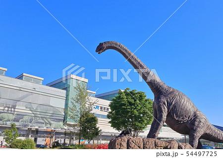 【福井県】JR福井駅と恐竜モニュメント 54497725