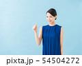 夏 20代女性(青背景) 54504272