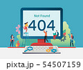 404 error page not found. Vector illustration 54507159