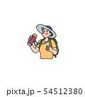 水筒を持つおばさんハイカー 54512380