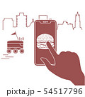Order in smart phone app, delivery with robot 54517796