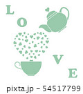 Greeting card Valentine's Day Teapot, cup, hearts 54517799