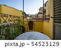 イタリア・フィレンツェにて 早朝 ホテルのベランダからの景色 54523129