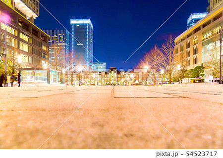 東京駅 夜景 54523717