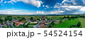 European countryside from the air, village in pannonian plain, Dravsko polje, Slovenia 54524154