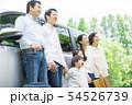 三世代家族 自動車 旅行 54526739