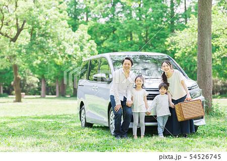 家族 自動車 旅行 54526745