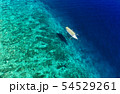 Gili Meno island, Indonesia. Aerial landscape. 54529261