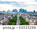 凱旋門から眺めるパリ市内 54533266