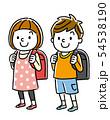 小学生の男の子と女の子 54538190