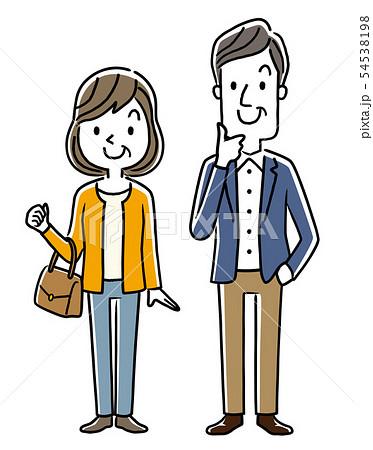 中年、中高年の男性と女性 54538198