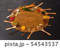 インド料理のスパイス集合写真 Spice India dish of the curry 54543537