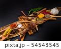 インド料理のスパイス集合写真 Spice India dish of the curry 54543545