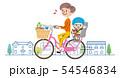 ママチャリ 買い物 イラスト 54546834