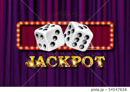 Jackpot sign with dice. 54547638