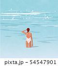 海にいる女性 54547901