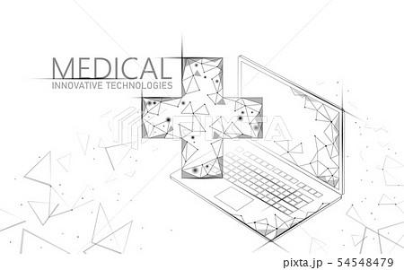 Medical cross symbol doctor online concept. Medical consultation app. Web healthcare diagnosis 54548479
