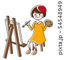 絵を描く女性 54548949