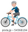 クロスバイクに乗る男の子 イラスト 54568194