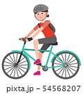 クロスバイクに乗る女の子 イラスト 54568207
