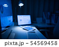 夜 パソコン ノートパソコンの写真 54569458
