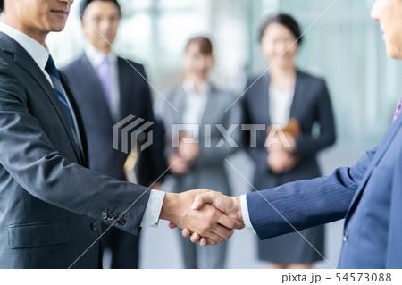 握手をするビジネスマン 商談成立 ビジネスイメージ 54573088