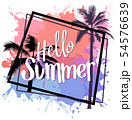 Hello Summer Design with Colorful Splatters 54576639