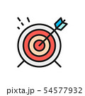 Vector target, goal flat color line icon. 54577932