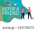 Recruitment. Refer a friend vector illustration. 54578473