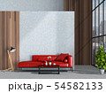 interior living room wall concrete with sofa 54582133