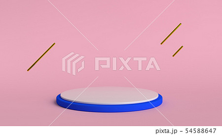 3d abstract background render. Pink platform for product display. Interior podium place. Blank 54588647