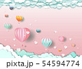 travel happy with balloons and Heart on cloud 54594774