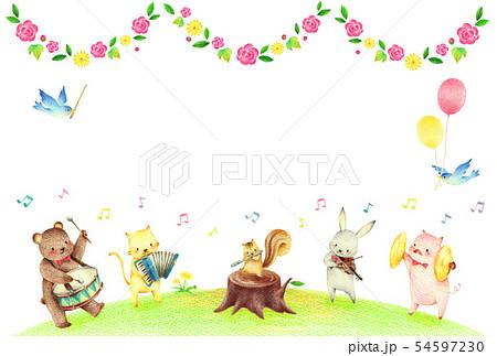 動物の音楽隊 春 54597230