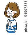 若い女性 54597883