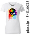 T-shirt Design with Colorful Eye 54610038