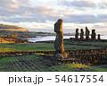 イースター島 アフ・タハイのモアイ(チリ) 54617554