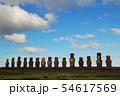 イースター島 アフ・トンガリキのモアイ(チリ) 54617569