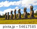 イースター島 アフ・アキビのモアイ(チリ) 54617585