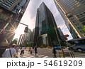 日本の東京都市景観  「大手町駅前」の交差点などを望む 54619209