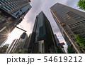 日本の東京都市景観  「大手町駅前」の交差点などを望む 54619212