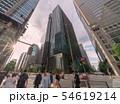 日本の東京都市景観  「大手町駅前」の交差点などを望む 54619214
