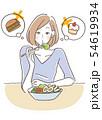 ダイエット 食事制限 女性 54619934