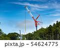 風力発電用風車の組み立て作業中のクレーン作業 54624775