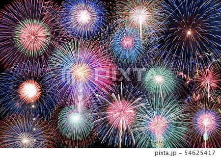 【期間限定発売‼︎】花火大会イメージ。メガ盛り花火素材。 54625417