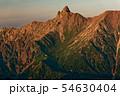 笠ヶ岳から見る夕照の槍ヶ岳 54630404