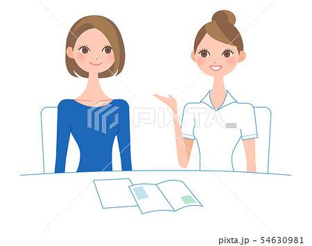 白衣を着た女性によるカウンセリング 54630981